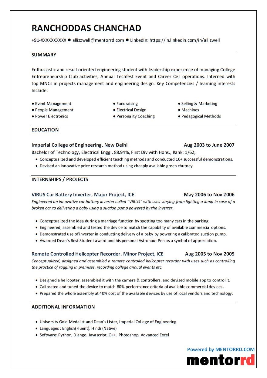 Online Free Resume Builder To Make Professional Resume For Your