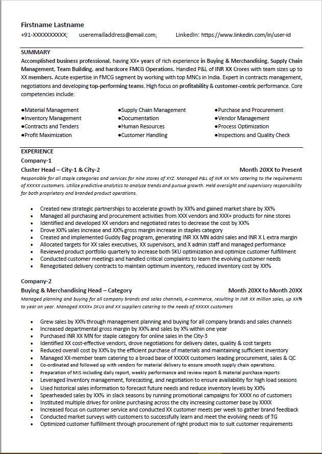 sales  distribution resume sample